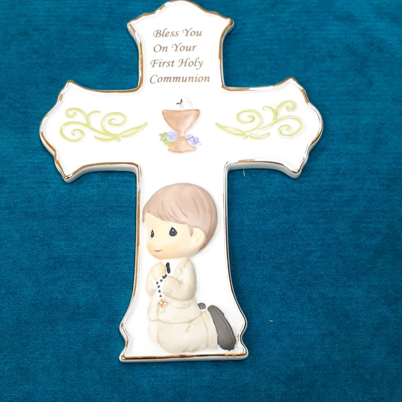 Precious Moments Communion Boy Cross.
